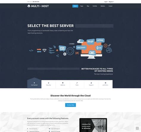 23 best html web hosting templates with whmcs billing ready