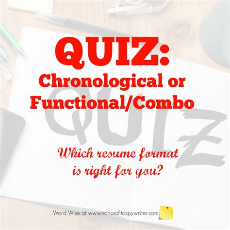 Resume Quiz by Which Resume Writing Format Should You Choose Take This Quiz