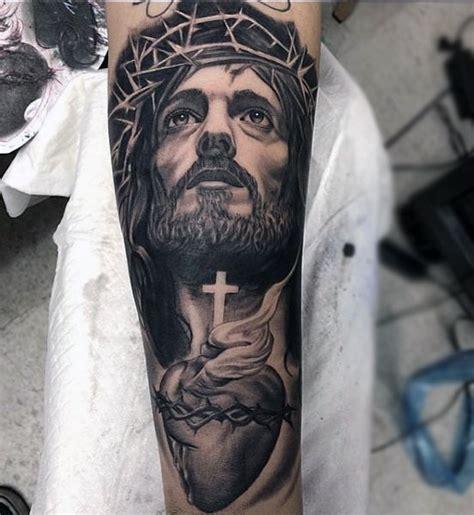 jesus tattoo on forearm 100 jesus tattoos for cool savior ink design ideas