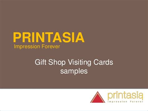Gift Shop Business Card - gift shop business visiting card printasia