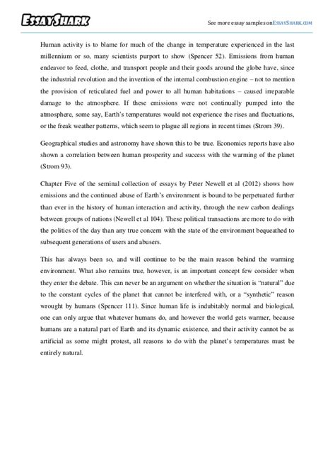 Sle Essay On Global Warming by Global Warming Persuasive Essay Sle