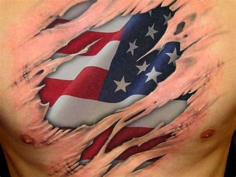 american flag chest tattoo 85 best patriotic american flag tattoos i usa 2018