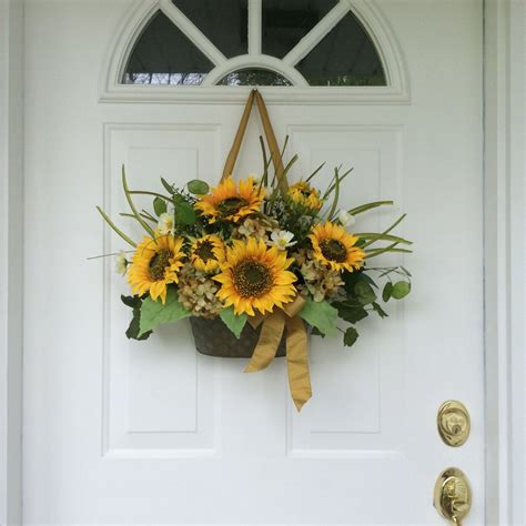 Decorative Wreaths For Front Door by Summer Wreaths Sunflower Wreaths Front Door Decor Fall