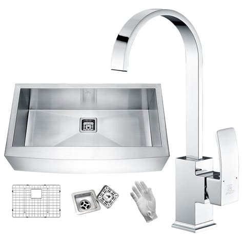 stainless steel farmhouse sink single bowl anzzi roine farmhouse engineered 24 in single bowl