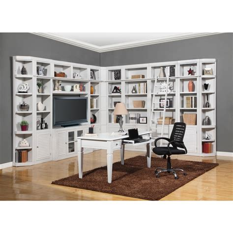 bookcase desk wall unit parker house boca 12pc corner library bookcase wall unit
