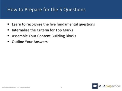 Profesional Peparation Mba by Five Questions You Must Answer In Your Mba Application