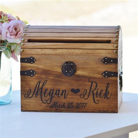 Wedding Card Chest by Shabby Chic Wedding Card Box Rustic Wedding Card Box With