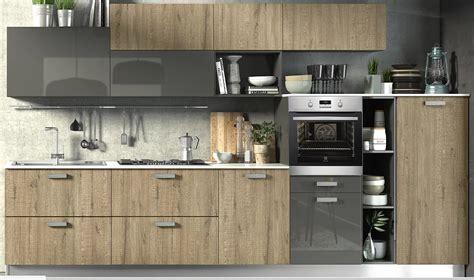 cucine grigio rovere cucina moderna essenza rovere e grigio laccato in offerta