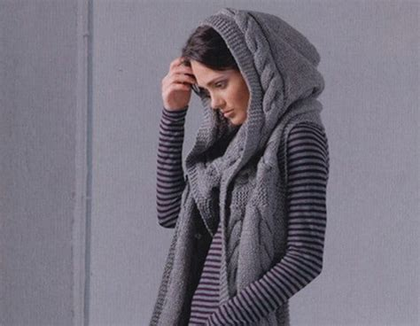 knitting pattern scarf hood knitted hooded scarf pattern all the best ideas