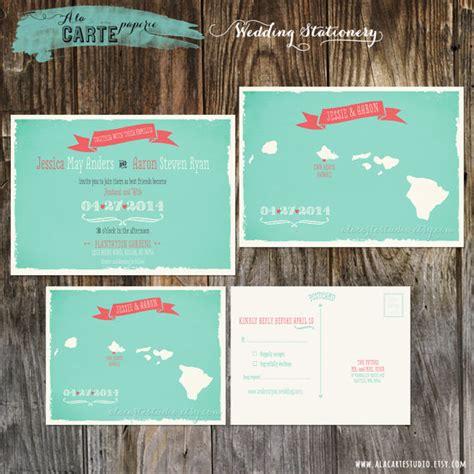 Hawaiian Wedding Invitations by Hawaii Islands Wedding Invitation And Rsvp Card By