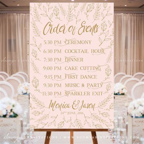 Blush Pink and Gold Wedding Signs, Woodland Enchanted