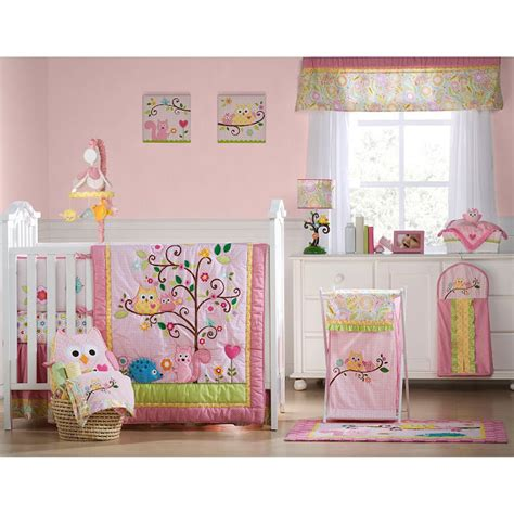 owl crib bedding sets baby girl owl nursery