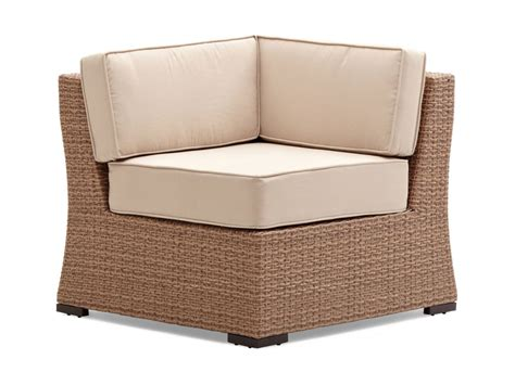 Sectional Corner Chair by Strathwood Griffen All Weather Wicker Sectional Corner Chair Garden Outdoor
