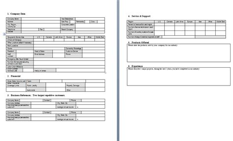 distributor profile template procurement templates tools