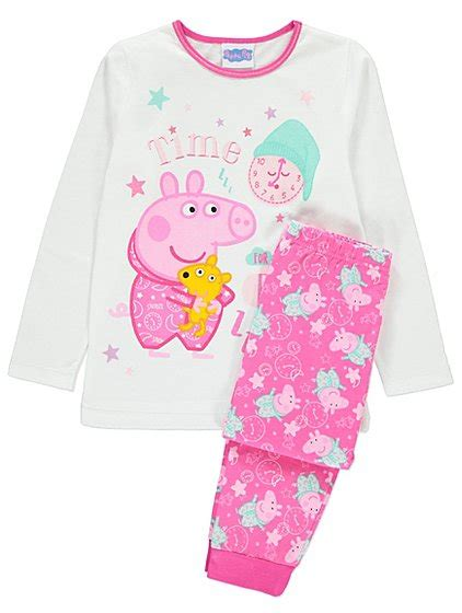 peppa pig dressing gown and slippers peppa pig pyjama and dressing gown set george