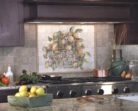 Ceramic Tile Murals For Kitchen Backsplash The Lemons Mural Is A Favorite With Customers As It Is Classic And And Will Create A