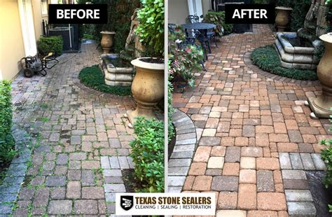 How To Clean Paver Patio Before After Pictures Sealers Project Gallery