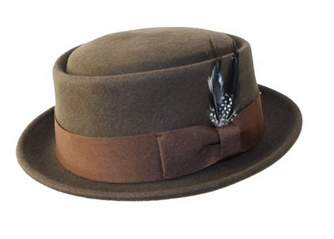 Topi Fedora Porkpie Size Xl S 100 Wool Felt Soft Crush Able Pork Pie Fedora