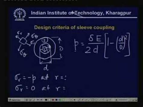 design of machine elements youtube lecture 20 shaft couplings i youtube