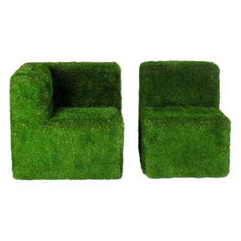 poltrone ad angolo poltrona ad angolo e sedia green rivestite con erba