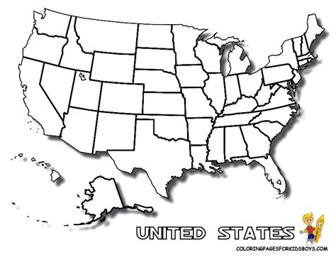 Coloring Pages United States Map Coloring Home Us Map Coloring Page