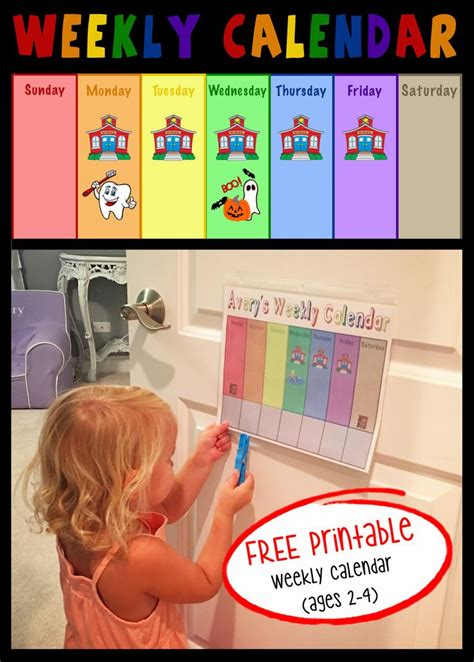 Toddler Calendar Best 25 Weekly Calendar Ideas On Weekly
