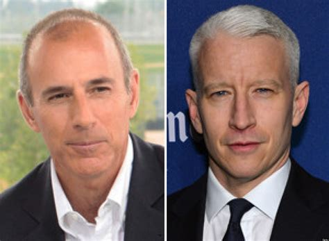 matt lauer unveils short haircut anderson cooper approached to replace matt lauer at today