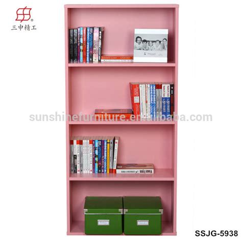 wooden portable coner bookcase bookcase with computer desk