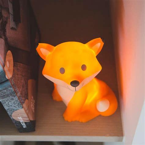 veilleuse chambre enfant veilleuse renard orange 224 led et piles