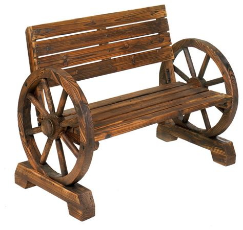 bench wheels wagon wheel garden bench rustic outdoor benches by