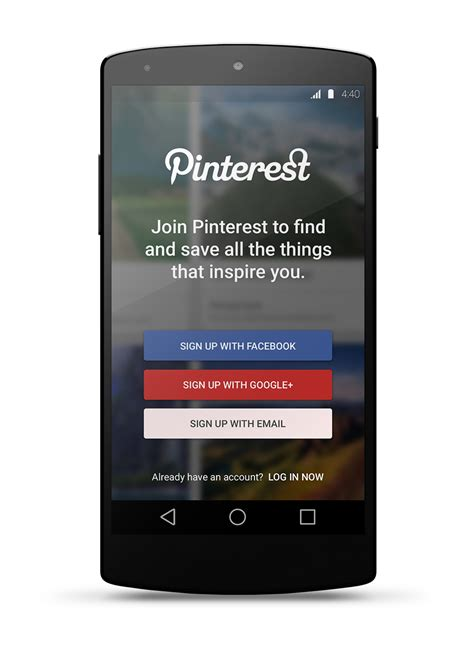 design concept app pinterest for lollipop material design concept app on