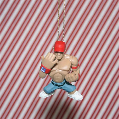 fancy wwe wwf john cena christmas ornament by regeekery