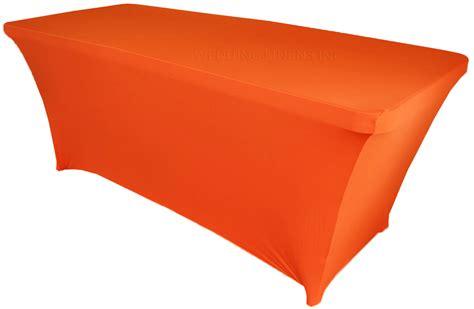 8 ft rectangular orange spandex table covers