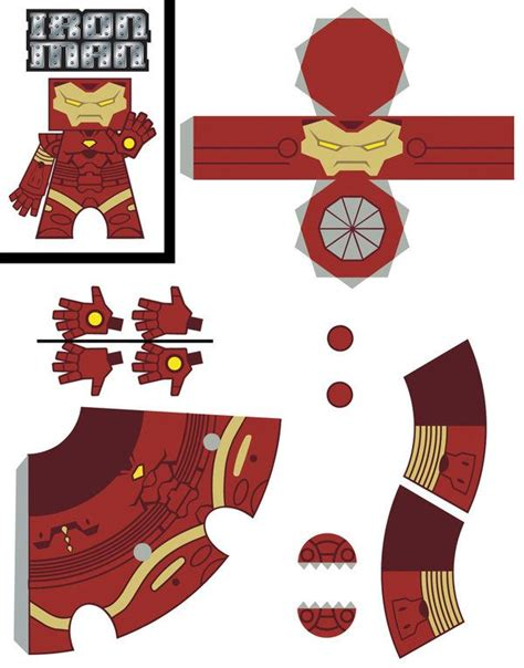 printable iron paper iron man template by newobmij on deviantart iron man