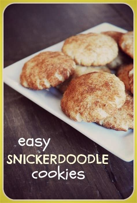 Cookies Easy Snickerdoodle Cookies And Recipe On