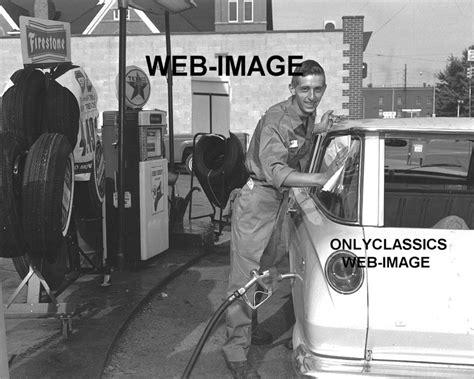 1963 texaco gas station photo service attendant globe automobilia ebay