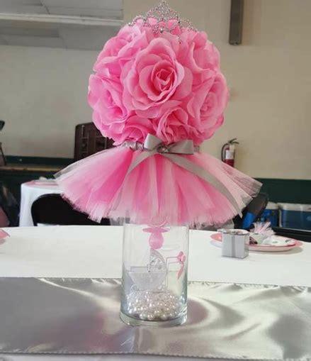 glass vase with flower tutu granbeanbaby shower