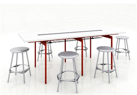Standing Table Height by Antenna Workspaces Standing Height Table Arenson Office