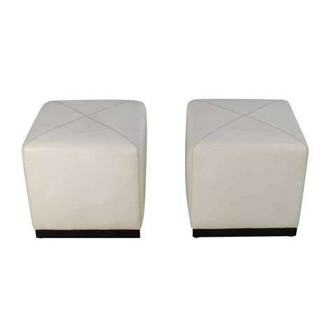 White Leather Cube Ottoman Cubes Coupon
