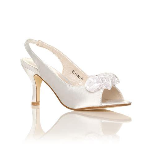 white bridal heels new womens ivory white satin wedding bridal shoes