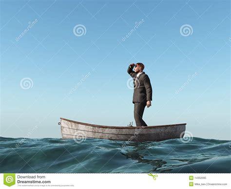 un barco perdido lost man in a boat stock illustration image of depression