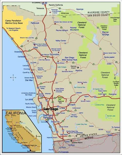 map of san diego ca maps of san diego