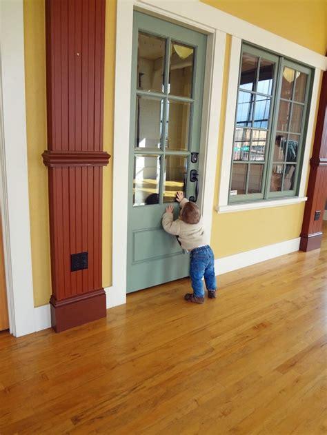 painted simpson  exterior door  beveled glass