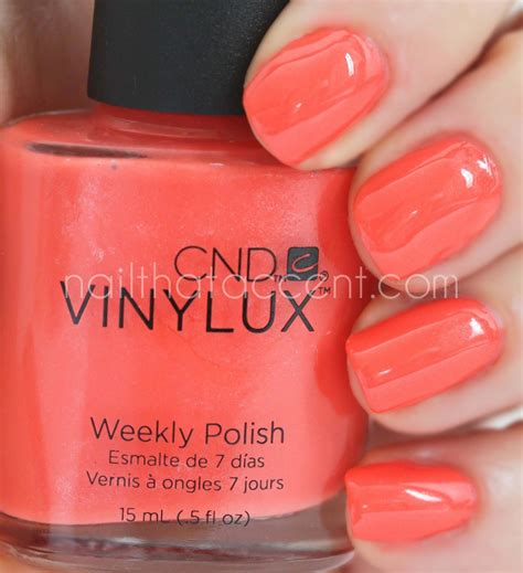 Cnd Vinylux Desert Poppy cnd open road collection swatches nail that accent