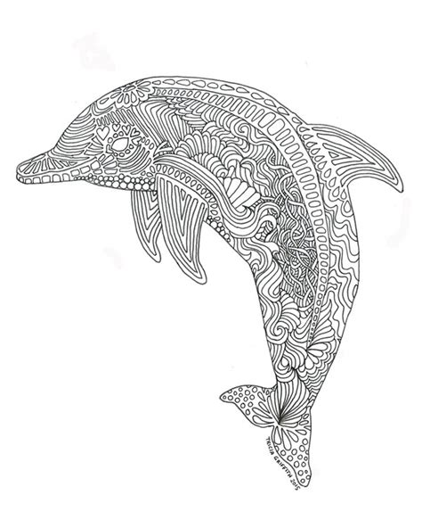 Coloring Pages For Adults Dolphins | printable dolphin coloring page for adults by