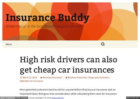 high risk car insurance high risk car insurance