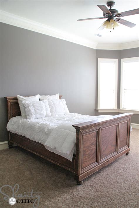 diy woodworking queen bed shanty  chic