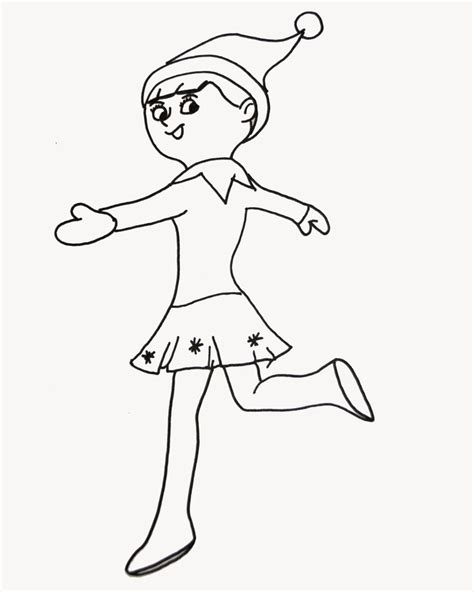 elf on the shelf coloring page hello kindergarten