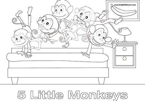 super monkey coloring pages 5 little monkeys colouring sheet szukaj w google super
