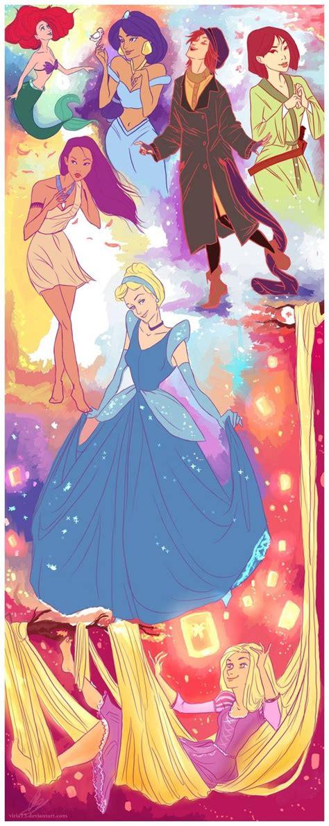 disney princess a magical feel their magic by viria13 on